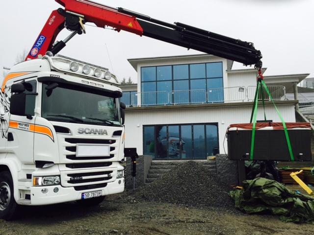 kranbil 40 tonnmeter scania R580