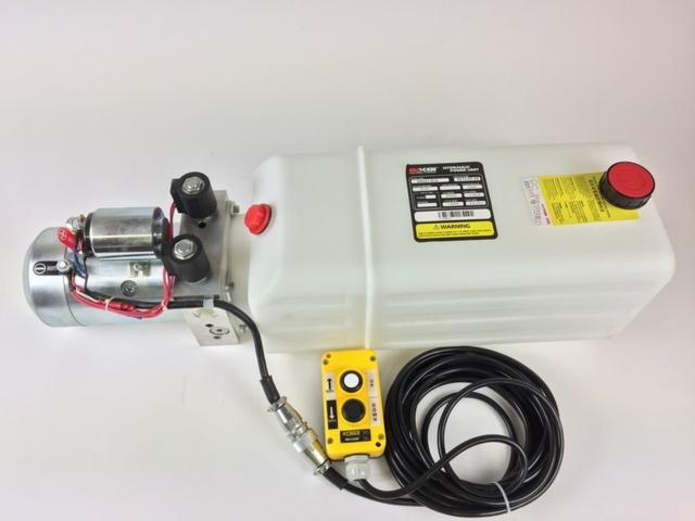 12V Dobbeltvirkende hydraulikkaggregat - 20D21-018