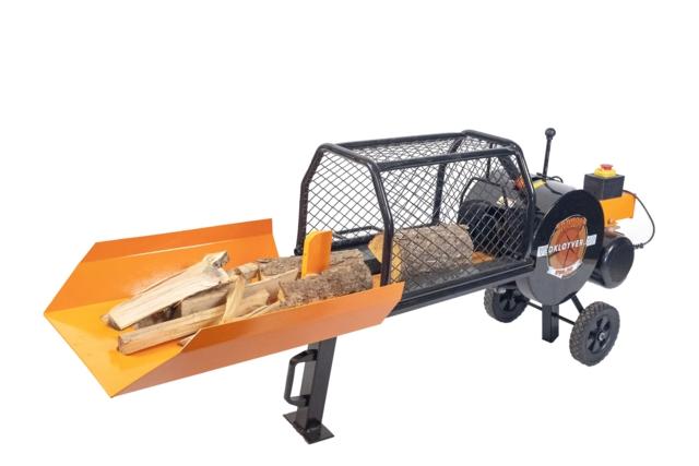 Vedkløyver 8 tonn elektrisk 1 fas RWX wood turbo