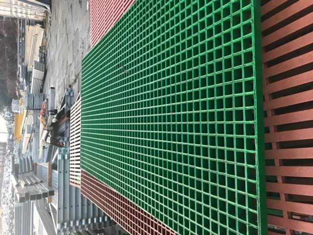 FRP firkant dekke Grøn
