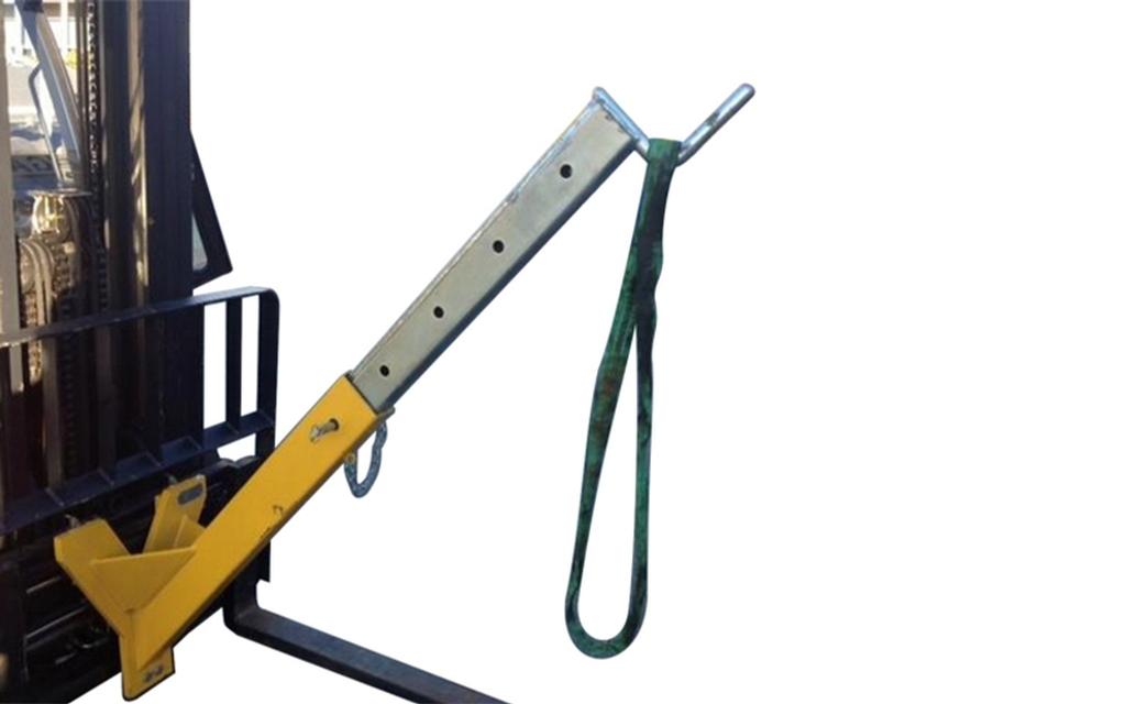 Sekkeløfter BBH 1000 kg gaffelbordmontert