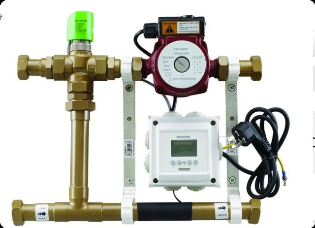 Shunt ventil med digital termostat
