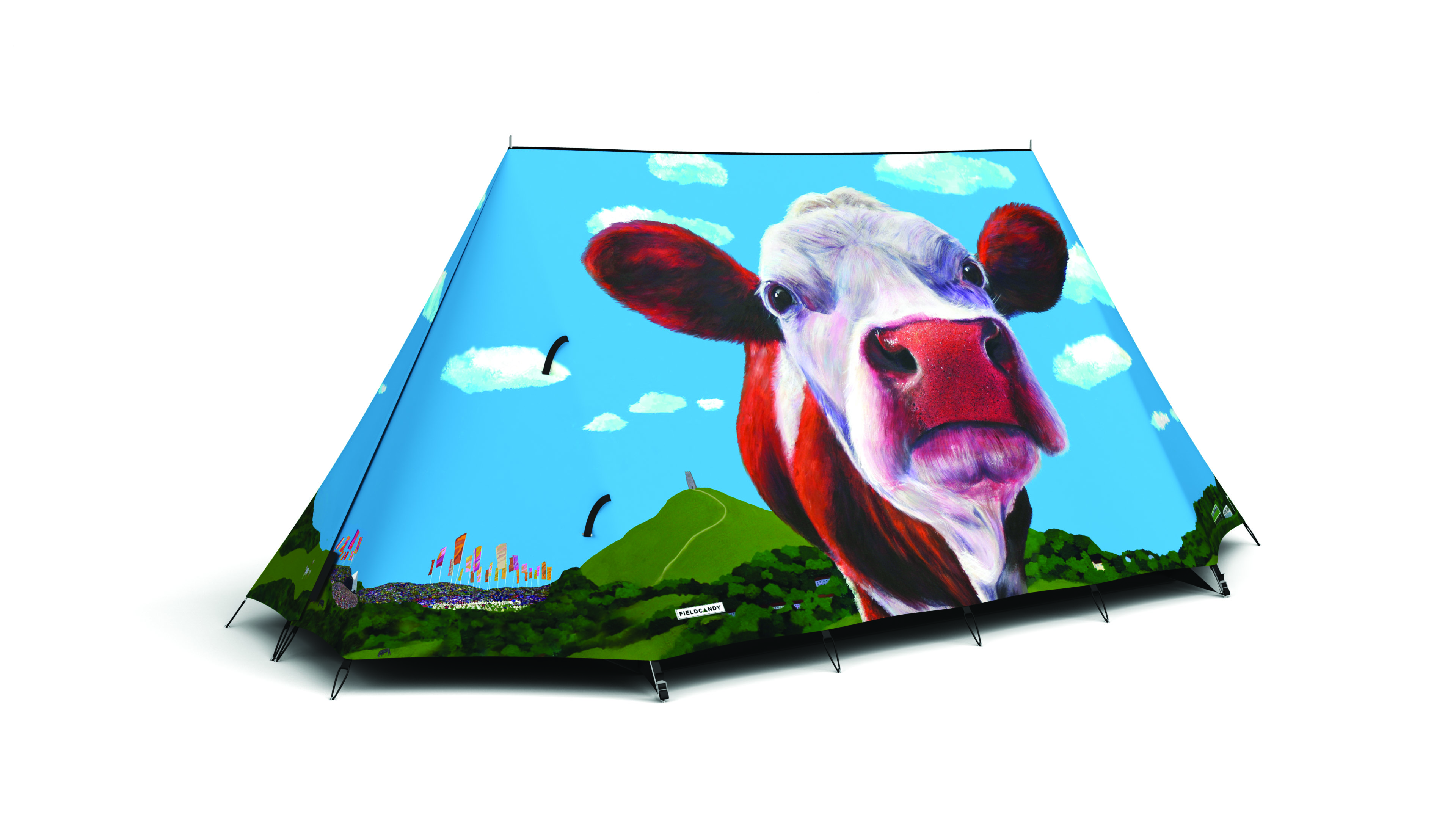 FieldCandy Telt Glasto cows