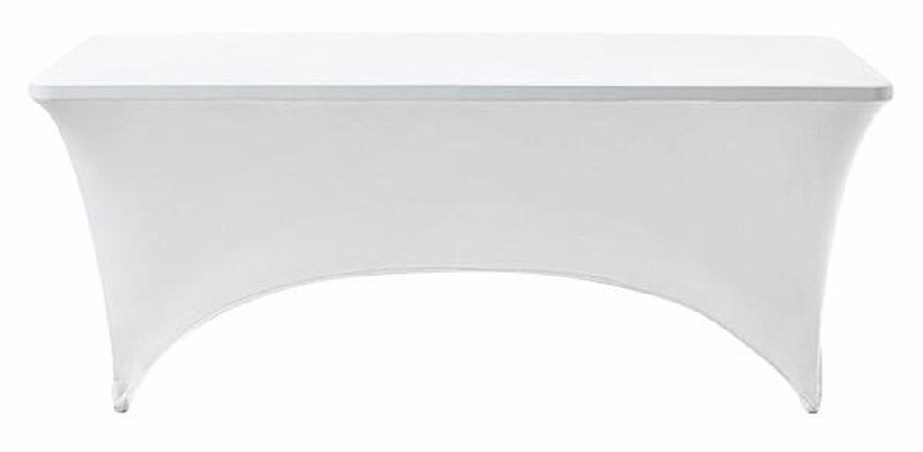 Strekkduk til foldbart bord - hvit