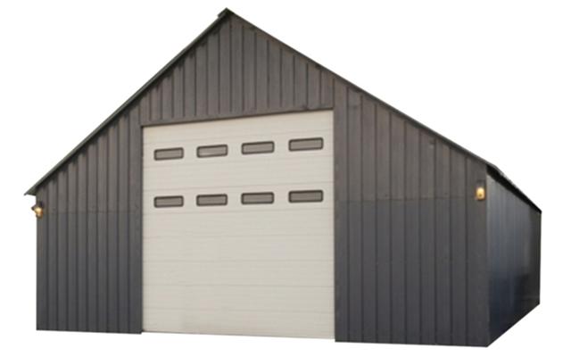 Stålhall 9x15x6,3 meter med dryppfritt tak