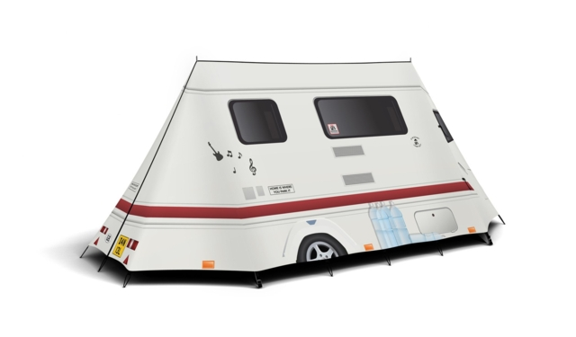 FieldCandy Telt Like a caravan
