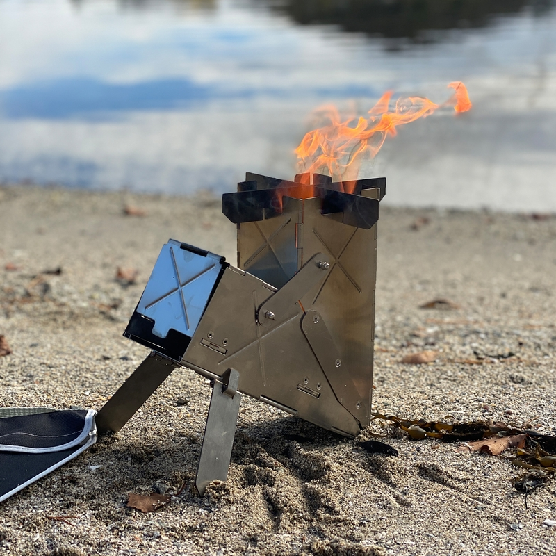 Vire the portable rocket stove